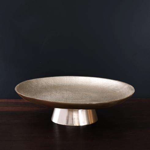 $143.00 Pedestal cake plate gold