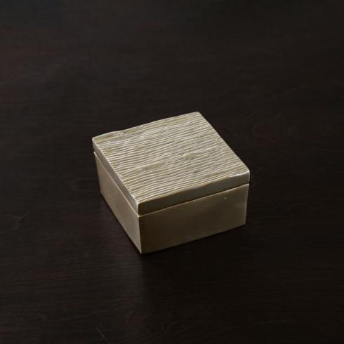 $84.00 Lines Medium Lidded Box (Gold)
