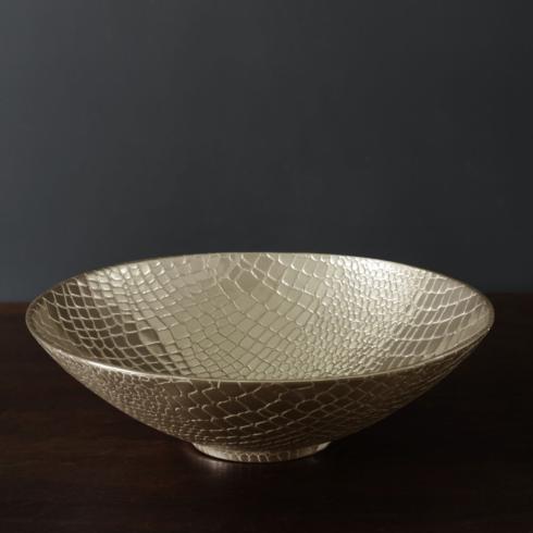 $157.00 Croc Large Bowl (Gold)