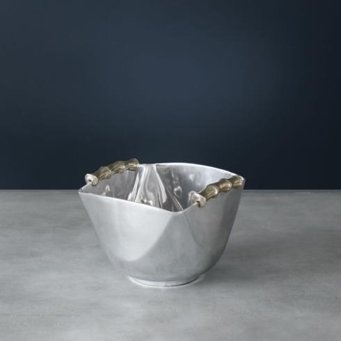 $169.00 Bamboo Elena Medium Bowl with Gold Handles