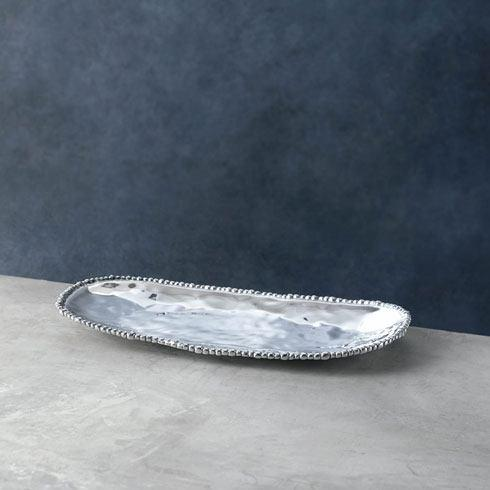 Beatriz Ball  Organic Pearl Oval Tray (Md) $126.00