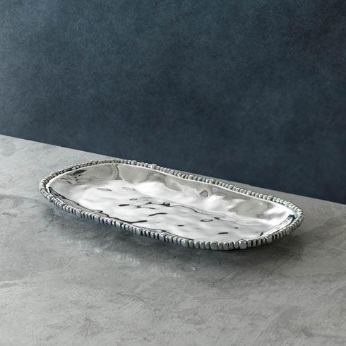 Beatriz Ball  Organic Pearl Oval Tray (Sm) $90.00
