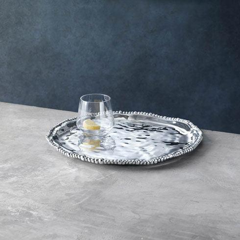 Beatriz Ball  Organic Pearl Round Platter $117.00