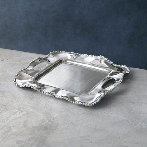Beatriz Ball  Organic Pearl Kristi Square Tray with Handles (small) $116.00