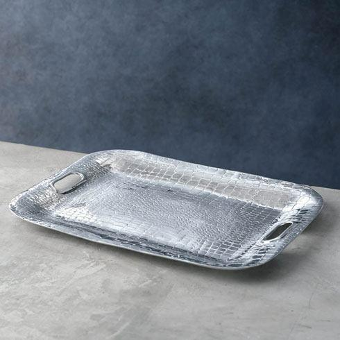 $156.00 Rectangle Tray With Handles Medium