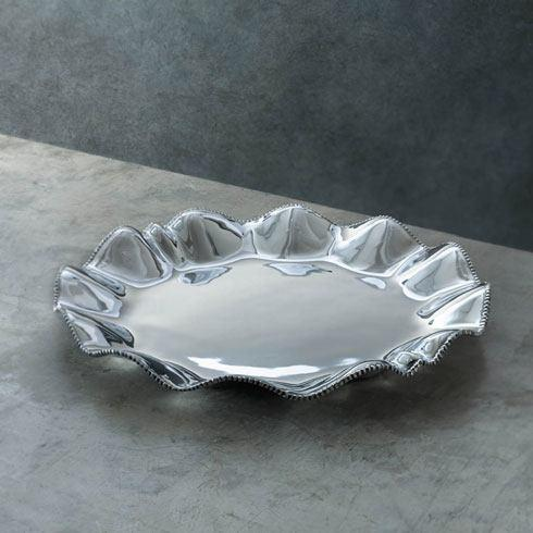Beatriz Ball  Pearl Denisse Round Platter With Handles $104.00
