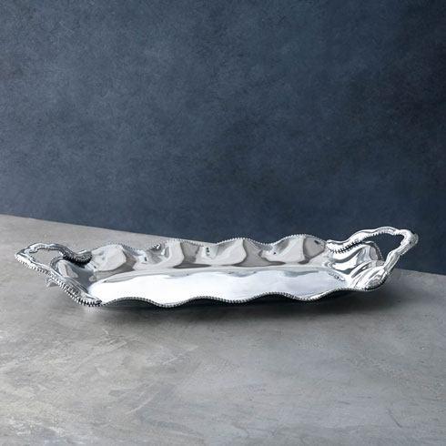 Beatriz Ball  Pearl Denisse Rectangular Platter W/Handles $153.00
