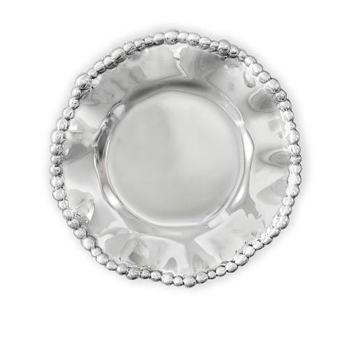 Organic Pearl Round Wine Plate Plain