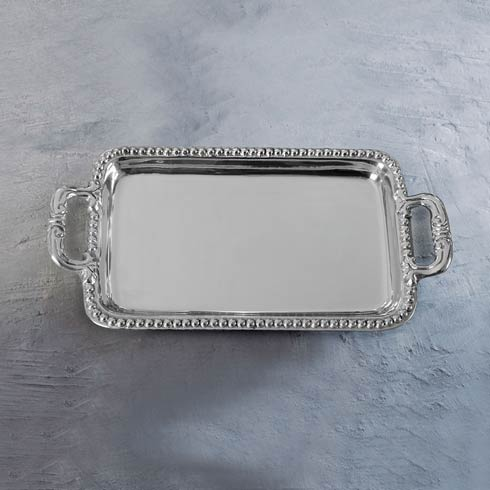 Beatriz Ball  Giftables Pearl David Rect Tray $67.00