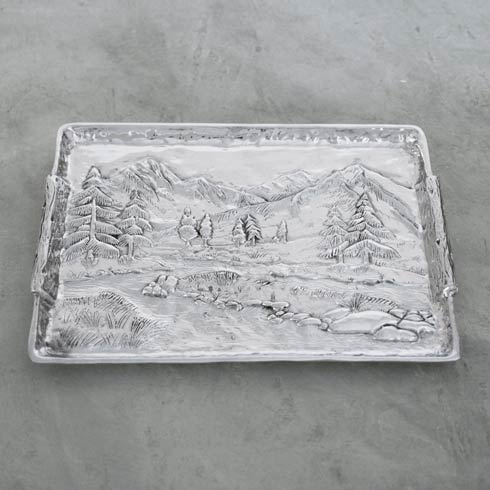 $169.00 Mountain Scene Tray