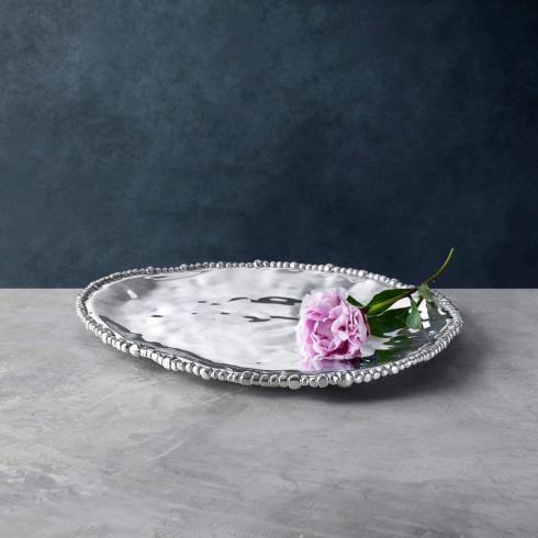 Beatriz Ball  Organic Pearl Triangle Platter (Lg) $117.00