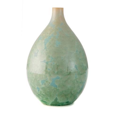 Crystalline Jade Teardrop Vase- Medium collection with 1 products