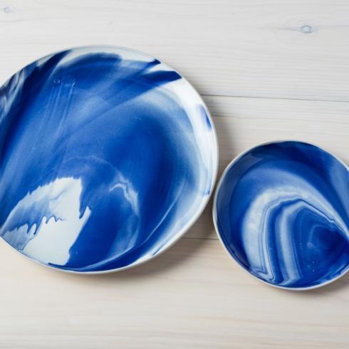 Indigo Marble Dinner Plate