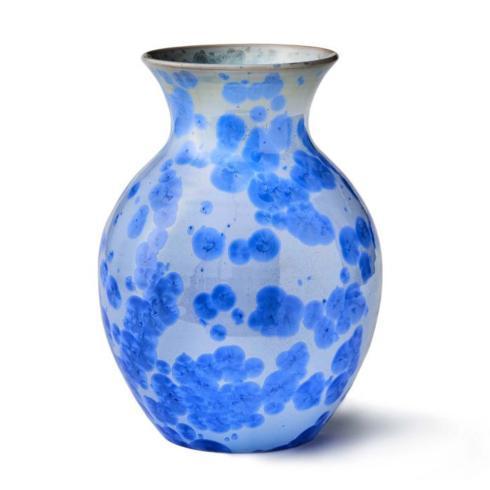 Curio Crystalline Vase- Cobalt
