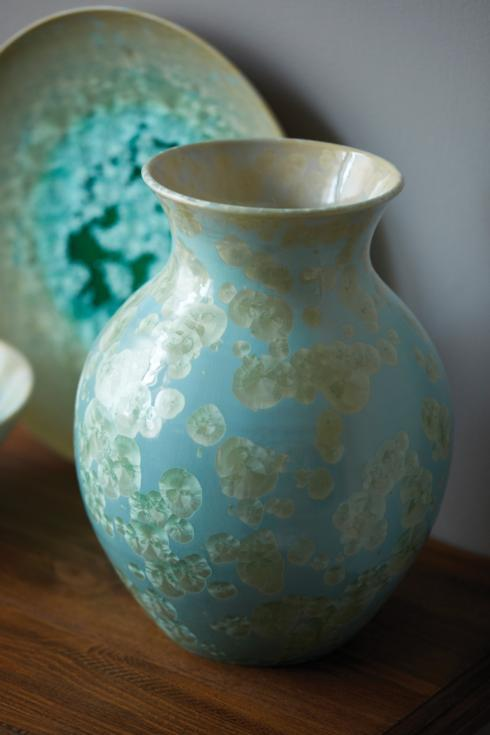Curio Crystalline Vase- Jade Large collection with 1 products