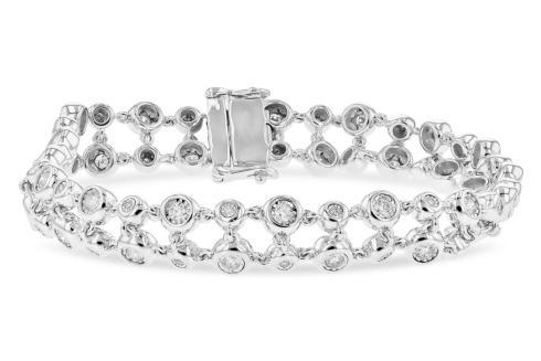 $4,945.00 1.33tcw Diamond Bracelet Two Strand