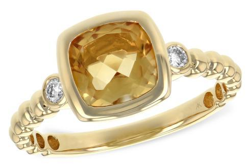 $795.00 1.15ct Citrine w/ 0.08tcw Diamond