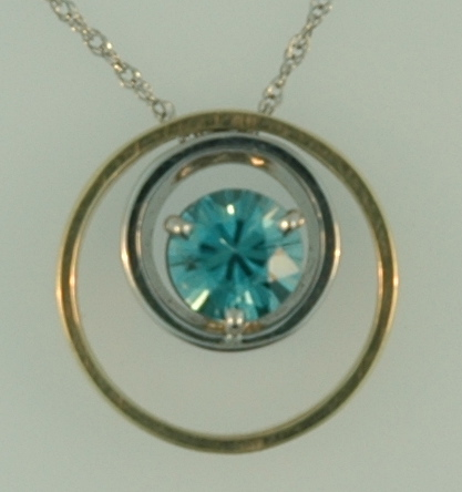 1.61ct Blue Zircon Pendant