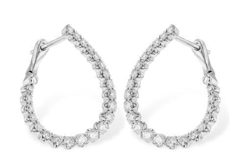 $2,325.00 1ct Twisted Diamond Hoop