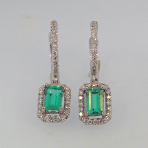 1.03tcw Genuine Emeralds with 0.33tcw Fancy Cut Diamonds in 18kw