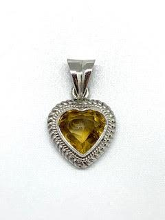 2.87ct Citrine Heart Sterling Silver Pendant collection with 1 products