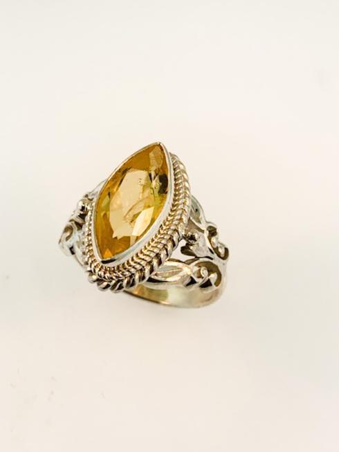 $149.00 Marquis Cut, Citrine Cut-Out Filagree