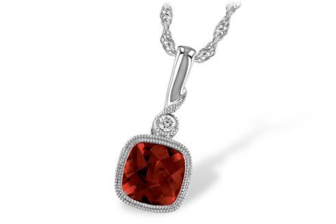 $534.00 1.18ct Garnet accented w/ 0.02tcw Diamond