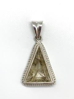 $150.00 Rutilated Triangle Quartz Cable Pendant