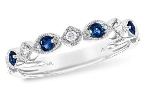 0.20tcw Sapphire accented w/ 0.06tcw diamond