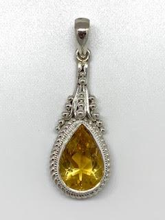 1.65ct Pear Shape Citrine Sterling Silver Pendant collection with 1 products