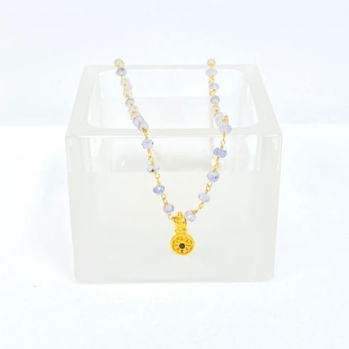 $138.00 Vermeil Pendant on Iolite Rosary Necklace