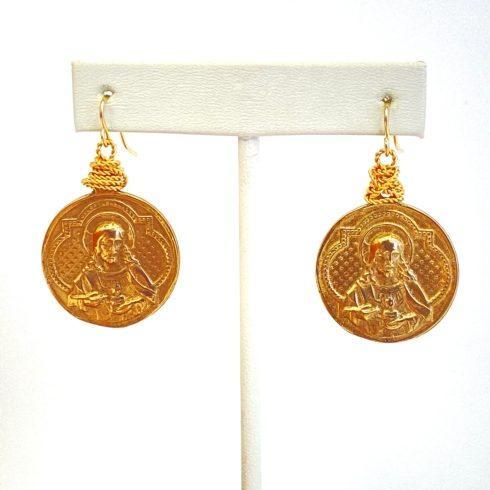 $89.00 Bronze Sacred Heart Earrings