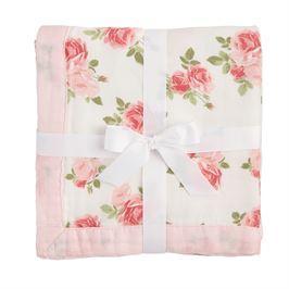 $38.00 Rose Receiving Blanket