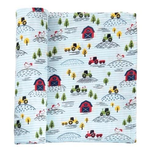 $17.50 Farm Swaddle Blanket