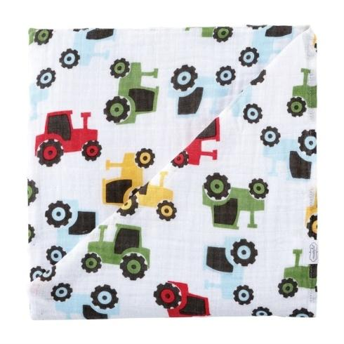 $17.50 Tractor Swaddle Blanket