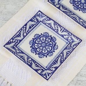 Gorky Blue & White Square Dinner collection with 1 products