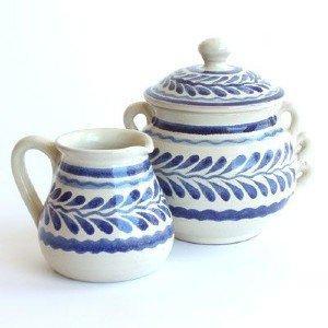 Gorky Pottery   Gorky Blue & White Sugar Bowl $28.00