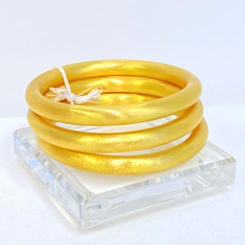 $135.00 Gold Plated Bangles, Set of 3