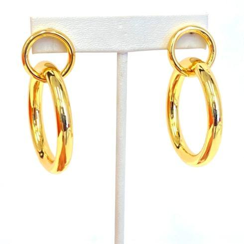 $76.00 Gold Plate Double Link Earrings