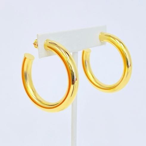 $58.00 Gold Plated Mid Size Hoops