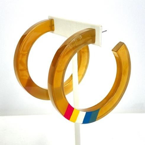 $52.00 Buffalo Horn Rainbow Hoops