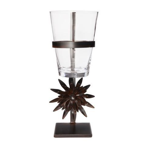 $412.00 Iron Stand with Glass Vessel