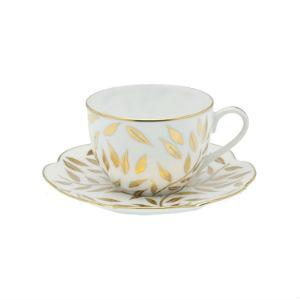 Barn White Exclusives   Olivier Gold Teacup & Saucer $165.00