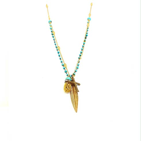 $189.00 Turquoise Rosary 2 Strand Necklace