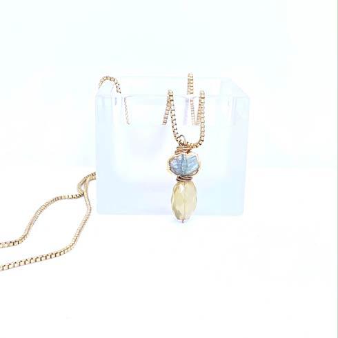 $118.00 Labradorite and Green Topaz Necklace