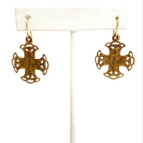 $78.00 Communion Cross Earrings