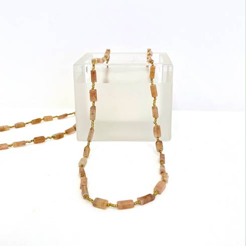 $129.00 Pink Moonstone Necklace