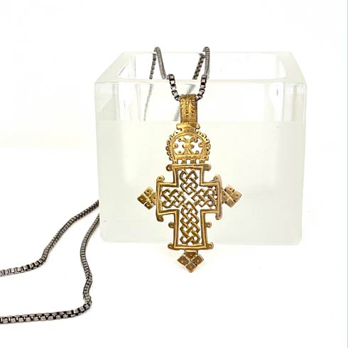 $138.00 Coptic Cross on Sterling Silver Chain Necklace