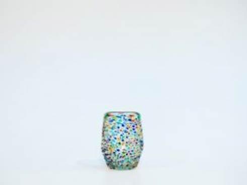 Rose Ann Hall Designs  Confetti Stemless Wine Glass $18.95