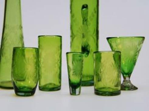 Rose Ann Hall Designs  Verde Engraved Pilsner $28.00
